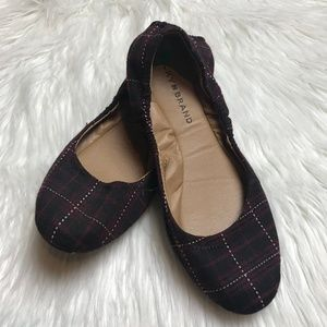 Lucky Brand Red & Navy Plaid Erin Flats